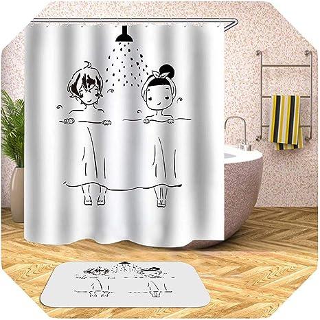 Amazon Com Meet Fashion Modern Shower Curtain Cartoon Shower Curtain Boy Girl Plant Waterproof Bath Curtains For Bathroom Bathtub Bathing Cover Extra Large Wide 12pcs Hooks Pattern 6 W180xh200cm Home Kitchen