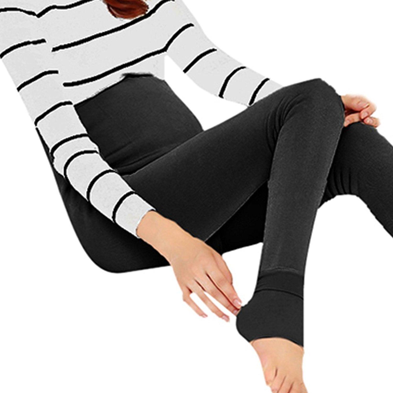 5374d3eeb8ca46 Pregnant Women Fleece Lined Leggings Pants Maternity Warm Winter Stretch  Trousers (Black) at Amazon Women's Clothing store: