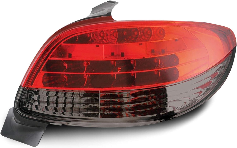 Jom Car Parts Car Hifi Gmbh 81148 Rückleuchten Led Peugeot 206 Bj 98 Rot Schwarz Auto