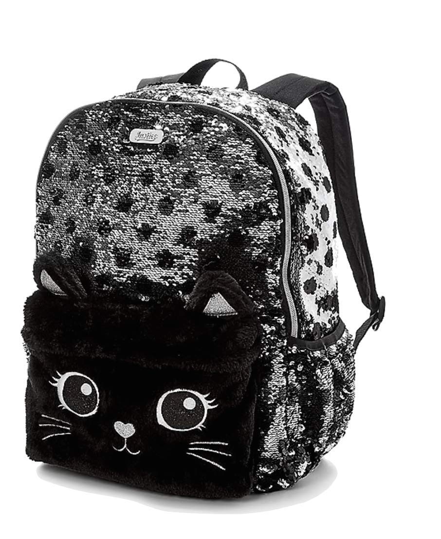 Justice black cat flip sequin backpack kids backpacks jpg 906x1106 White sequin  backpack 0baed2c09437e
