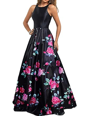 Aurora Bridal Womens 2018 Long Floral A-Line Prom Dresses Formal Evening Gown Size 2
