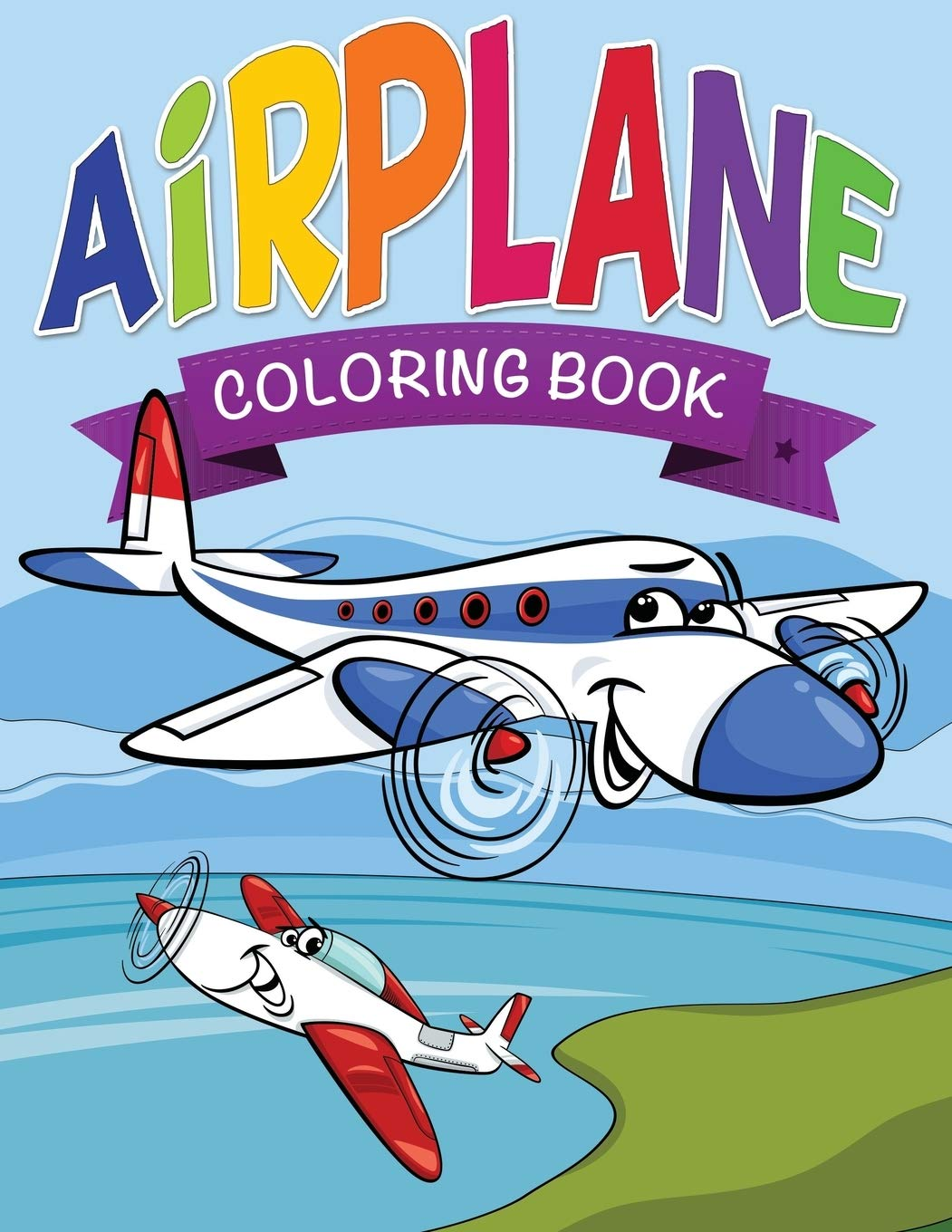 Airplane Coloring Book For Kids Publishing Llc Speedy 9781634285872 Amazon Com Books