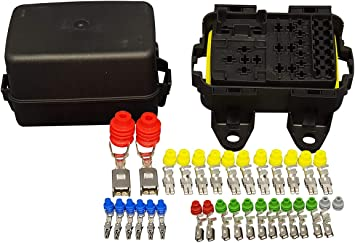 Amazon.com: MTA Waterproof Fuse Relay box Panel Module for 6 Mini Fuses, 1  Maxival fuse, 3 micro and 1 mini relays: AutomotiveAmazon.com