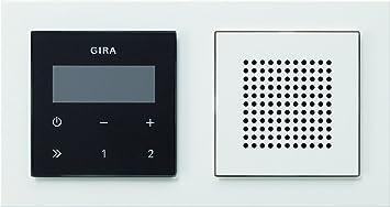 Gira Radio Weiß gira 049572 unterputz radio rds mit e2 rahmen gira e2 weiß