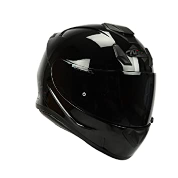 Nitro N3100 UNO - Casco integral para motocicleta, color negro brillante
