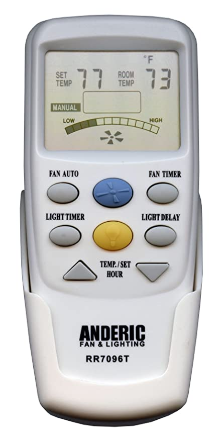 Anderic Replacement For Hampton Bay Chq7096t Withfan Timer Key Thermostatic Remote Control