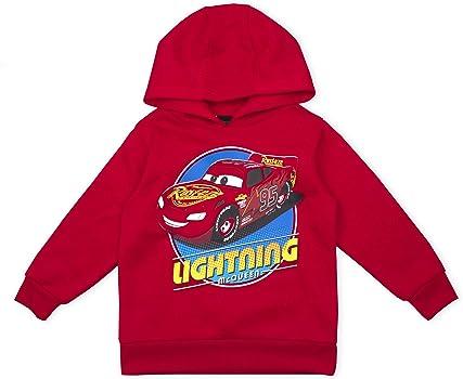 Disney Boys Cars Motif Hooded Grey Sweat Jacket Hoodie Ages 2 3 5 6 7 NEW SALE