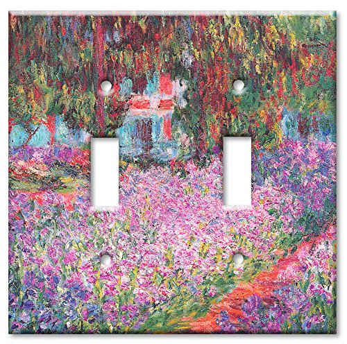 Double Gang Toggle Wall Plate - Monet: The Artist