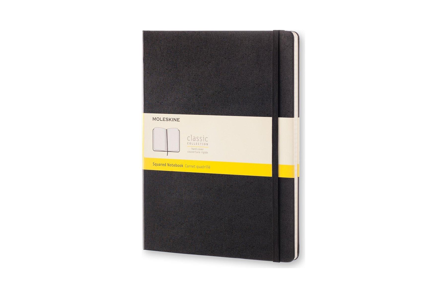 Moleskine Classic Notebook, Extra Large, Squared, Black