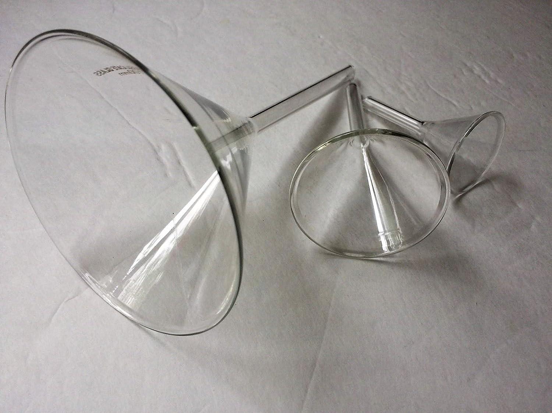 Glass Funnel Lab Stem Separatory Measuring Set of 3 Size 40mm 60mm 100mm Yantra
