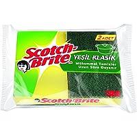 Scotch-Brite 1755948 Yeşil Klasik Bulaşık Süngeri 2'Li, Normal