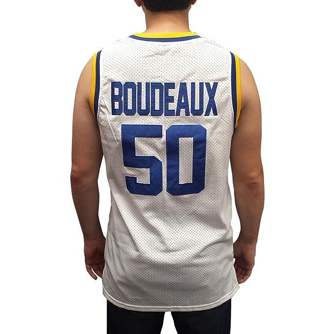 the latest 7e17d 7e10d Amazon.com: Neon Boudeaux #50 Western White Basketball ...