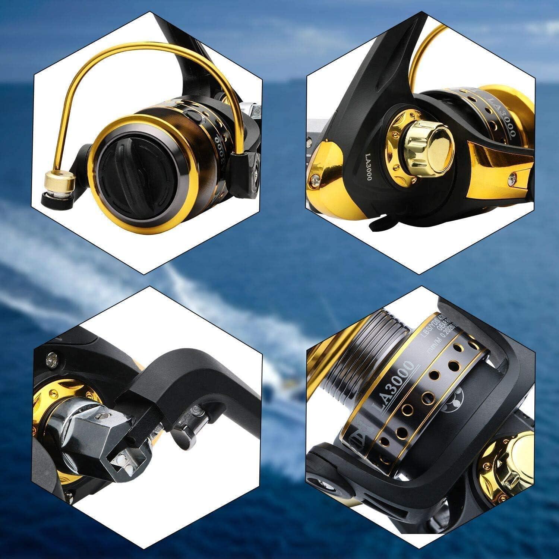5000 12BB-7000 3000 6000 y 7000. Carrete de pesca spinningECOOLBUY 12BB 5.2  Carrete de metal para pesca spinning 4000 2000 series 1000