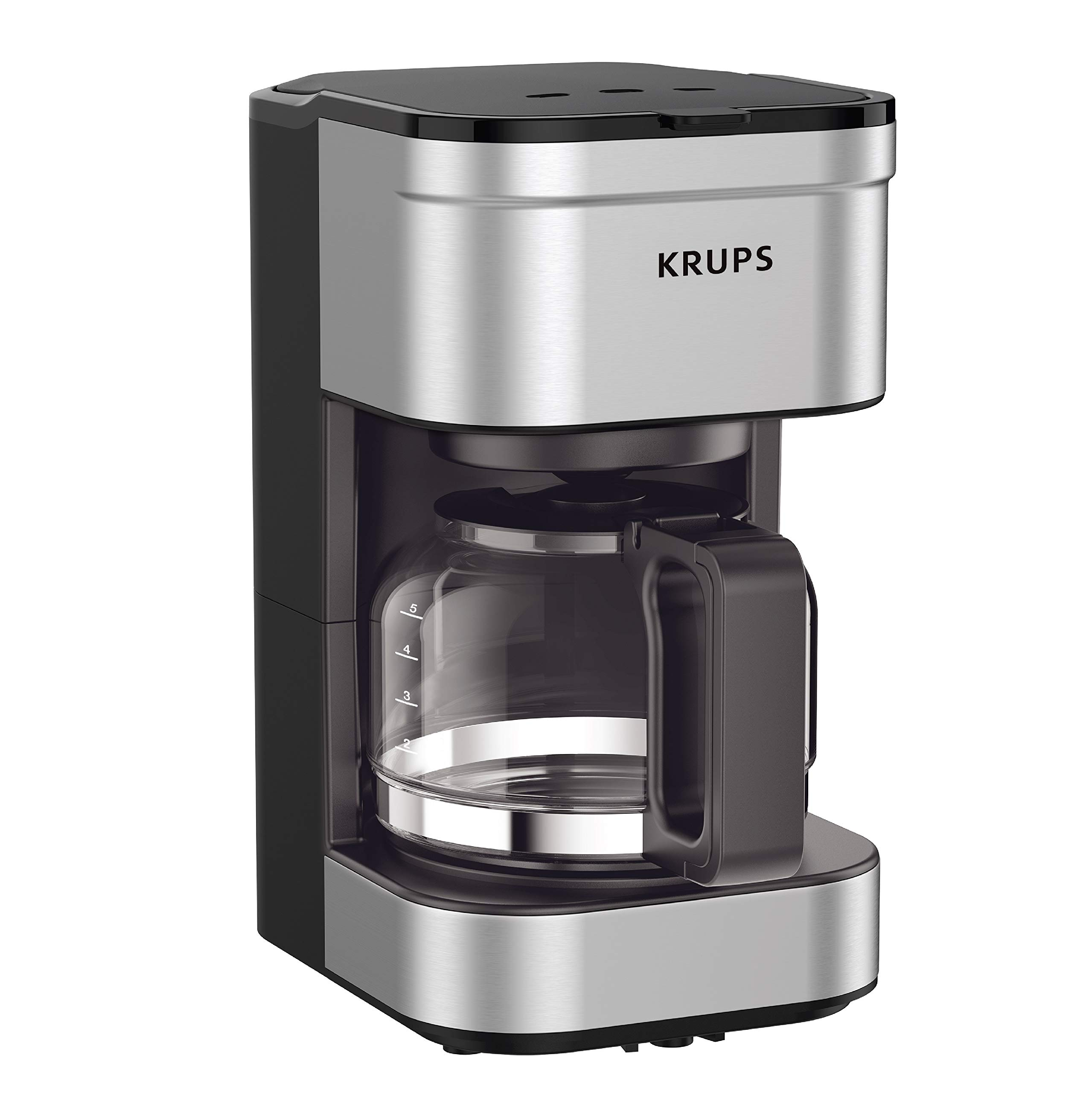 KRUPS KM202850 Simply Brew Compact Filter Drip Coffee Maker, 5-Cup, Silver by KRUPS