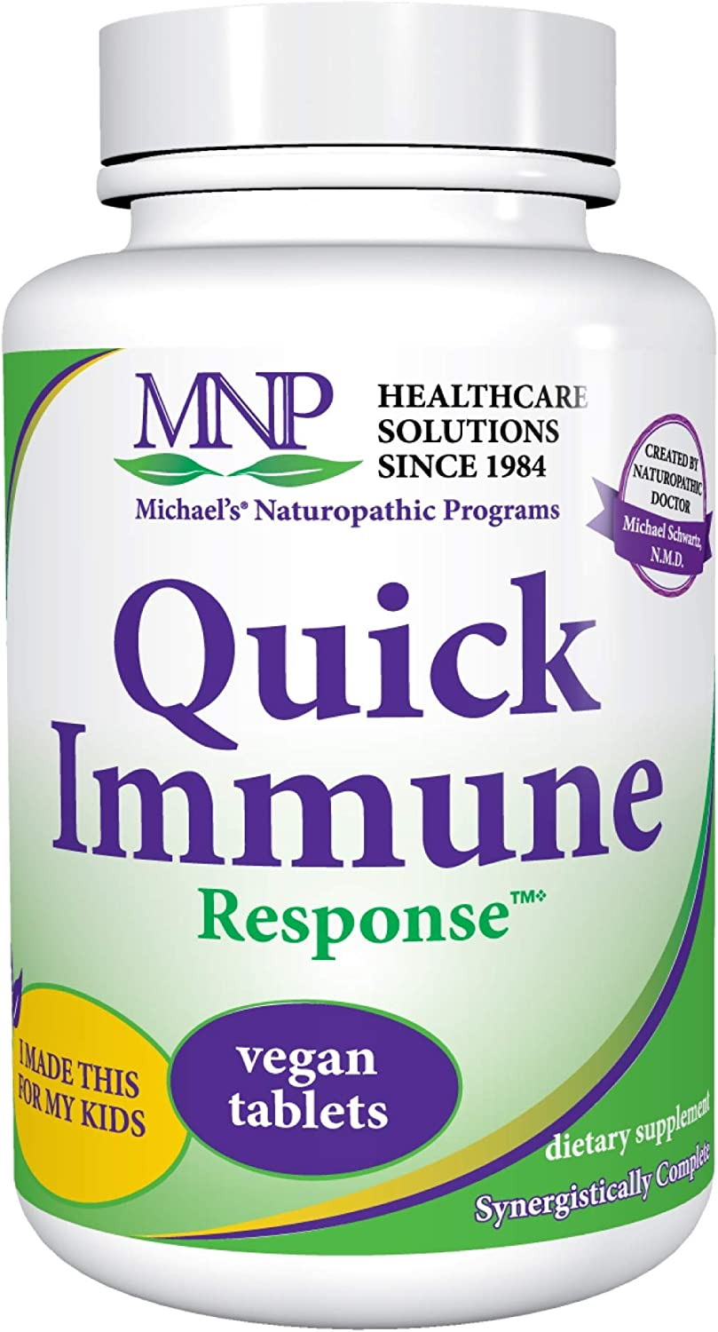 Michael s Naturopathic Programs Quick Immune Support – 120 Vegan Tablets – Immune System Support Supplement with Vitamin A, Vitamin C Zinc – Gluten Free, Kosher – 40 Servings