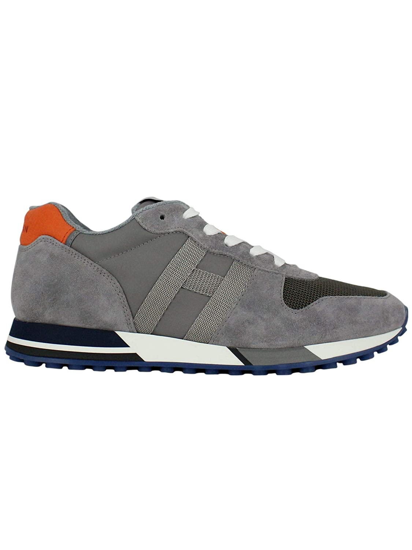 - Hogan Men's HXM3830AN51KEJ6EDS Grey Suede Sneakers