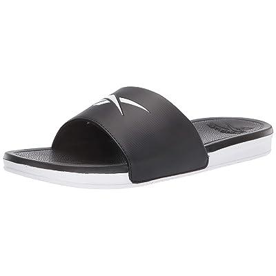 Reebok Men's Condition Slide Sandal, Black/White, 9 D US | Sport Sandals & Slides