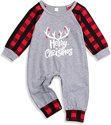 Yaffi Baby Christmas Sweatshirt Pullover Tops Toddler Infant Boy Girl Unisex Xmas Santa and Reindeer Cotton Casual Long Sleeve T-Shirt