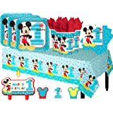Another Dream Disney Mickey Mouse Fun To Be One Birthday Party Pack for 16 with Plates, Napkins, Cups, Tablecover, and Candles