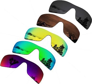 Amazon.com: SmartVLT Set of 5 Men's Replacement Lenses for Oakley Batwolf  Sunglass Combo Pack S03: Clothing