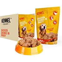 Kennel Kitchen Dog Food for Both Adult & Puppy Chicken Chunks in Gravy 100 Grams (30-Pack)