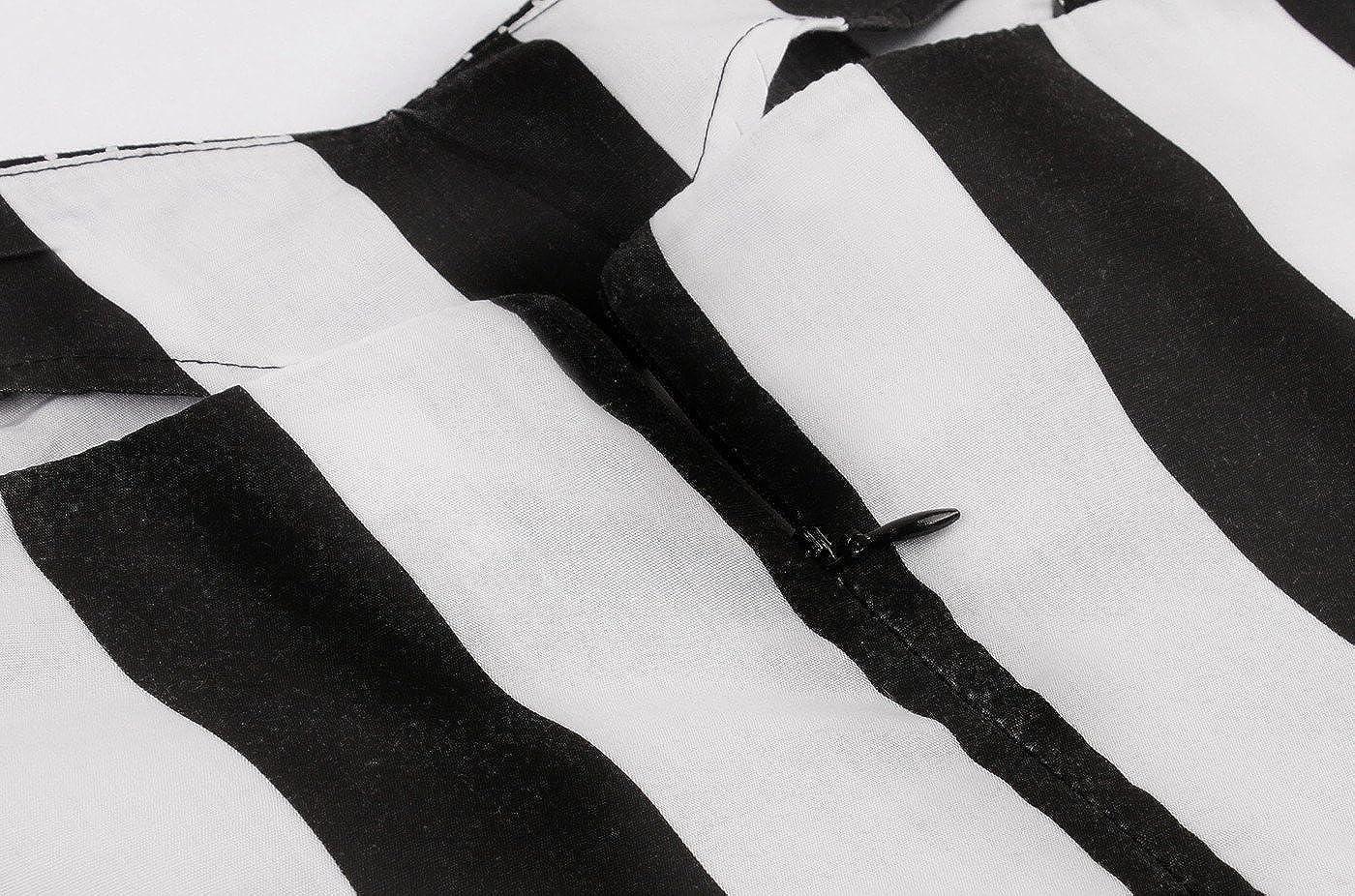 VERNASSA Abito da Sera retr/ò da Donna S-4XL Abiti da Festa Rockabilly con Fiocchi di Neve Anni 50 Polka Pinup Swing Dress con Motivo Floreale
