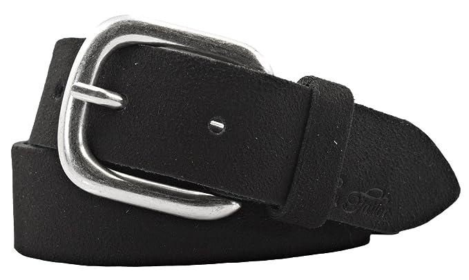 5ec1d2a8ea72 TOM TAILOR Damen Gürtel Damengürtel Leder Gürtel Ledergürtel 30mm schwarz,  Länge 85