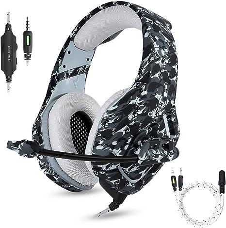 PS4 Gaming Headset Micrófono con cancelación de ruido para PC ...