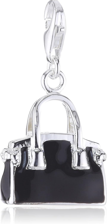 Thomas Sabo 0719-007-6 Silver Charm Pendant A Champagne Chiller Green//Black Enamelled