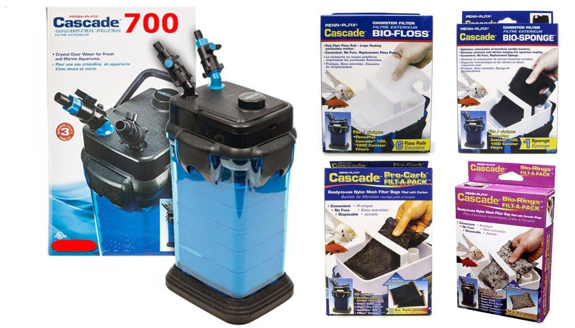 penn-plax cascade 1000 canister filter pro package: .ca: pet ...
