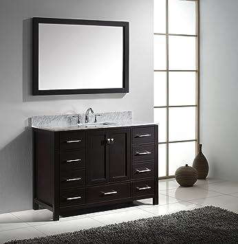 Virtu USA GS 50048 WMSQ ES Caroline Avenue Single Square Sink Vanity In