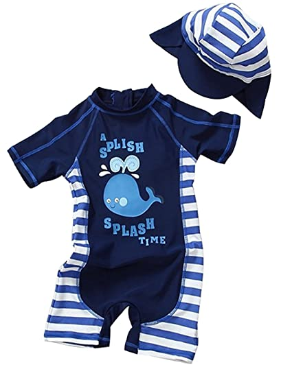 6de046c6 Baby Toddler Boy One Piece Swimsuit Set Kid Swimwear Bathing Suit UPF 50+ 3