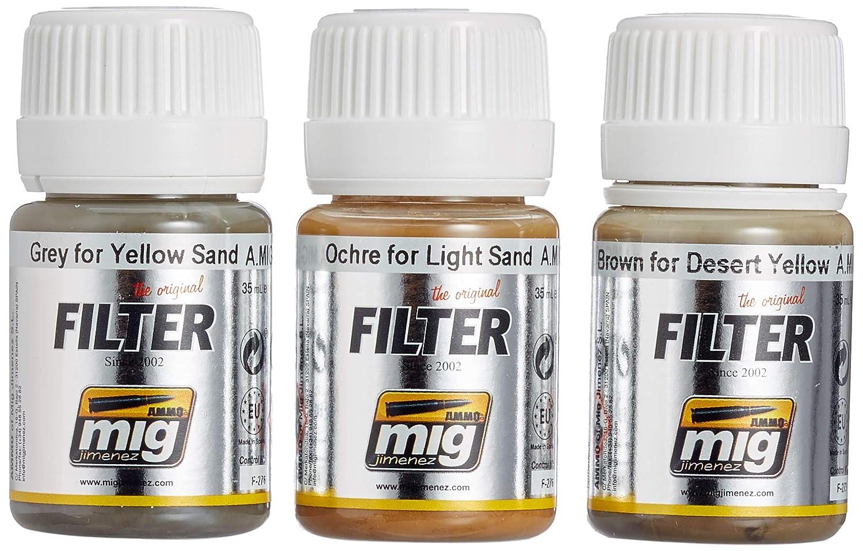 AMMO MIG-7451 - Juego de filtros para vehí culos de Desierto, Multicolor AMMO OF MIG JIMENEZ S.L. Ammo_A.MIG-7451