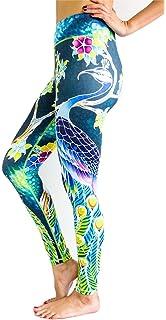 4d3f21a118 Amazon.com  DOVPOD Printed Yoga Pants High Waist Fitness Plus Size ...