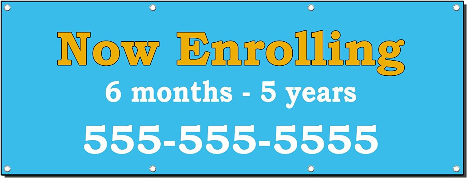 CUSTOM NAME DAYCARE Banner Sign NEW Larger Size Best Quality for the $$$