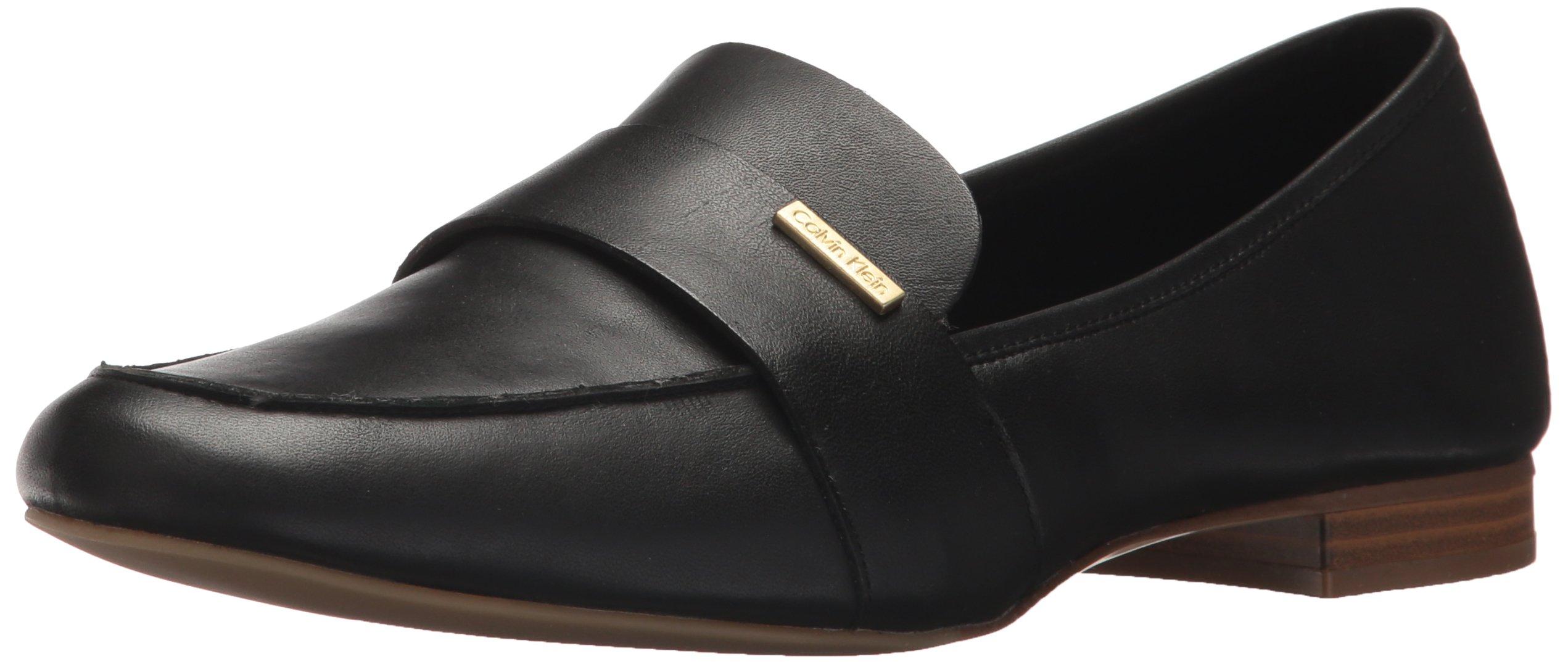 Calvin Klein Women's Cemmie Loafer, Black, 8.5 Medium US