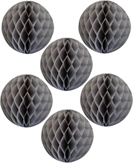 product image for 6-pack 5 Inch Gray Honeycomb Tissue Paper Balls