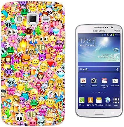 925 - Collage Multi Smiley Faces Emoji Design Samsung Galaxy Ace 4 ...