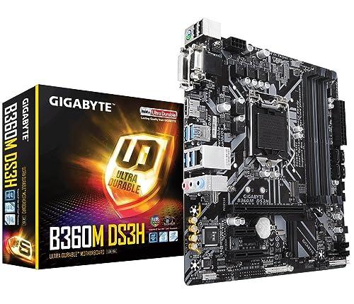 GIGABYTE B360M DS3H Socket 1151/H370/DDR4/S-ATA Motherboard - Black