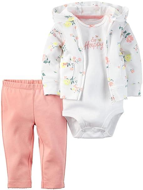 Amazon.com: De Carter Baby Girls 3 piezas (bebé): Clothing