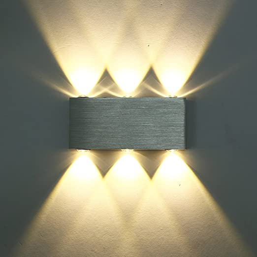 Glighone 6W LED Wall Light Up and Down Wall Lights wall uplighter ...