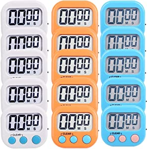 15 Pack Digital Kitchen Timer Magnetic Countdown Up Minute Second Timer