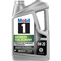 Mobil 1 Advanced Fuel Economy 120758 Advanced Full Synthetic Motor Oil for 0W-20 5, 4.73L, 5 quart