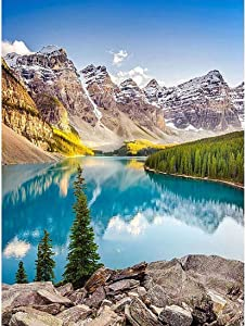 DIY 5D Diamond Painting Kits Paint by Numbers for Adults Beginner Full Drill Acrylic Set 16x12 Inch Mountains Office Home Wall Decor