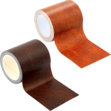 Astounding 2 Pieces Leather Repair Tape Patch 2 25 X 180 Inch Self Adhesive Leather Patch For Sofas Couch Furniture Car Seat Handbags Dark Brown Black Unemploymentrelief Wooden Chair Designs For Living Room Unemploymentrelieforg