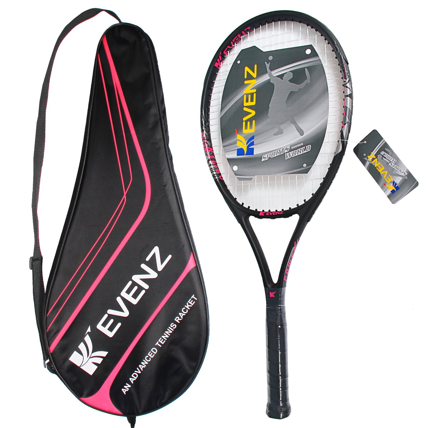 KEVENZ Green Advanced Training Tennis Balls,Practice Ball,Tennis Racket (Black Racket) by KEVENZ (Image #3)