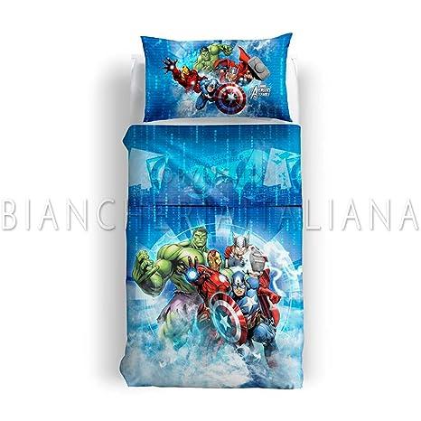 Parure Lenzuola Singole.Caleffi Marvel Parure Lenzuola Singole Avengers Amazon It