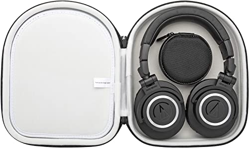 Audio-Technica ATH-M50X Professional Monitor Headphones with Knox Protective Headphone Case Bundle 2 Items