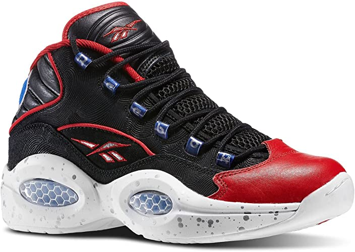 Reebok - Zapatillas de Baloncesto de Piel para Hombre Negro Negro ...