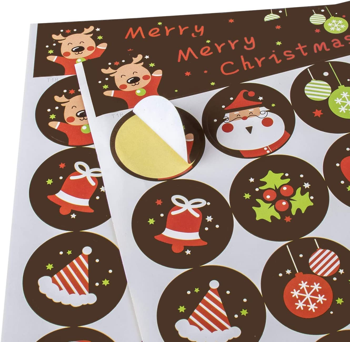 SoFire 408 Pieces Christmas Holiday Stickers Self Adhesive Christmas Scrapbook Stickers